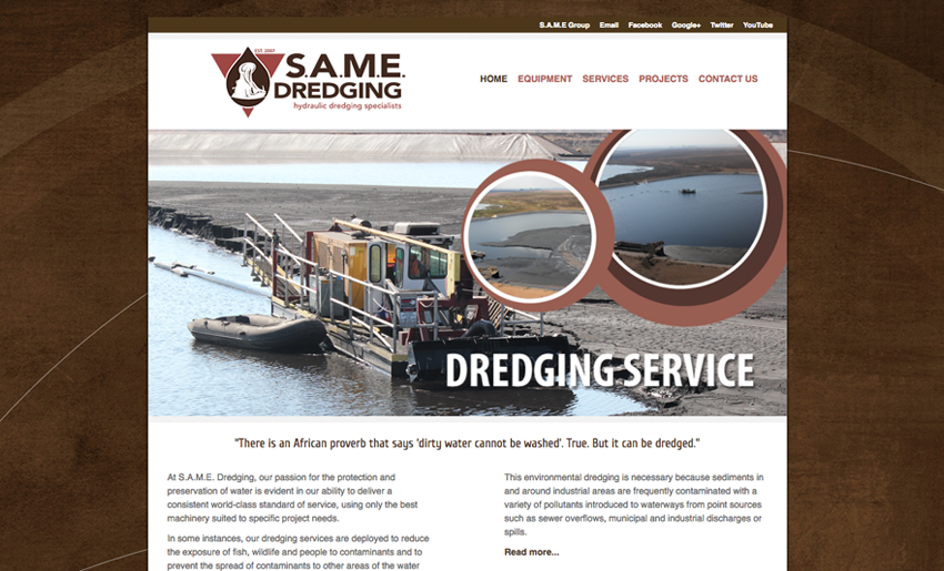 same-dredging-website - Creative Identity