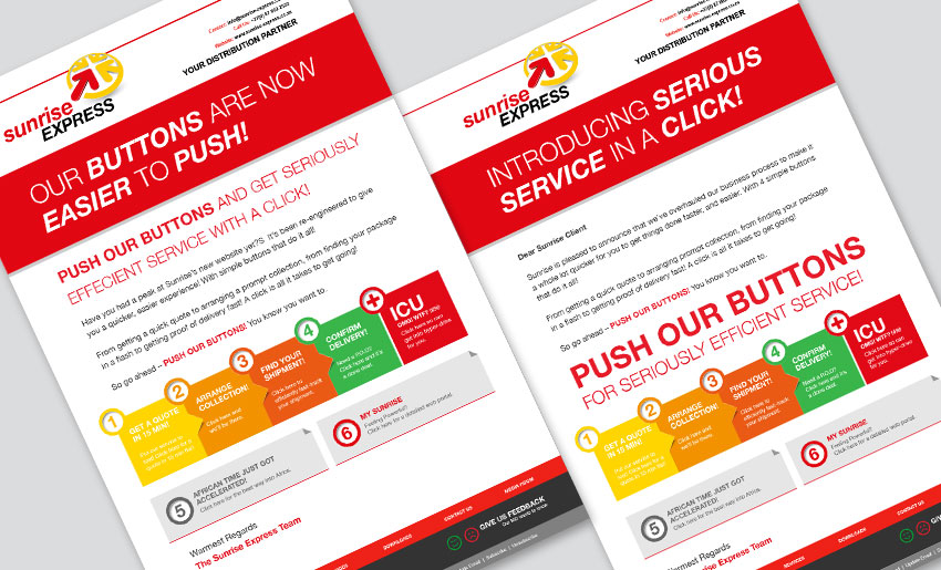 sunrise-express-new-launch-mailers